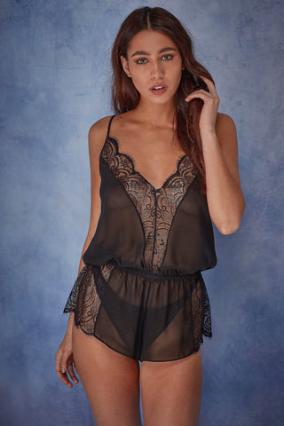Wolf & Whistle Emilia Eyelash Lace Playsuit