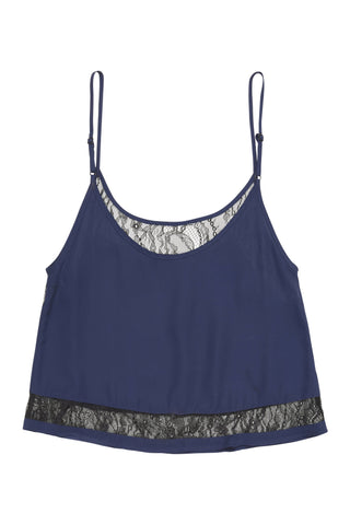 Nicole Navy Lace Panel PJ Set
