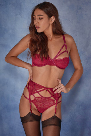 Cecile Lace Cut Out Thong