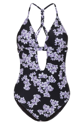 Blossom Macreme Back Cut Out Swimsuit B-F cups - Wolf & Whistle