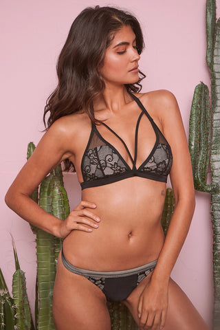 Wolf & whistle lace triangle bikini top