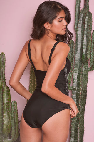 Mila Lace Panel Control Swimsuit