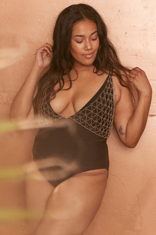 Halley Black Scoop Swimsuit Curve