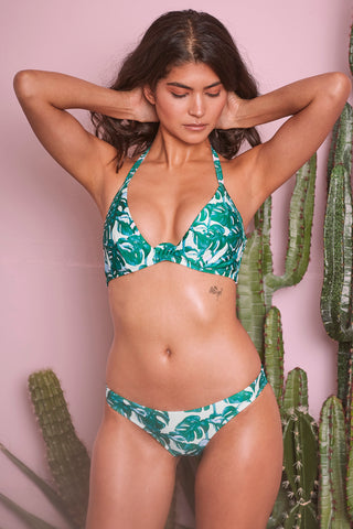 Loha Green Palm Hipster Bikini Brief