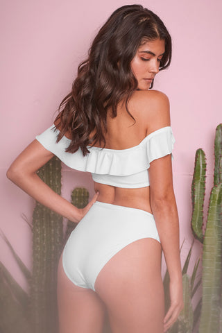 Beth White High Waist Brief - Wolf & Whistle