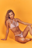 Wolf and whistle rosella pink fishnet bikini brief