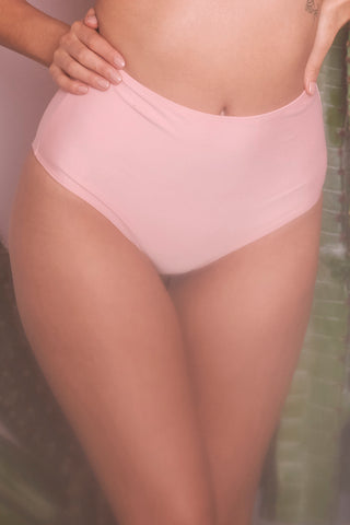 wolf and whistle peach high waist bikini brief