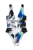 Amara 80s Palm Print Swimsuit