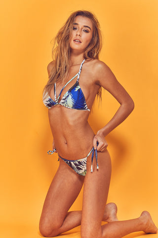 Amara 80s Palm Triangle Bikini Top