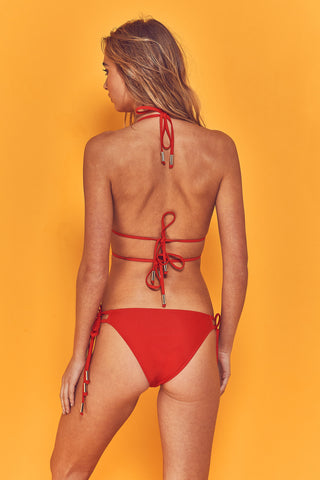 Kiki Strappy Bikini Brief with Gold Rings