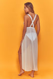 Karissa Cross Back Beach Dress White