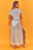 Zahida Open Front Maxi Beach Dress White