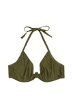 Katya Khaki Exposed Cradle Bikini Top Curve