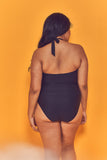 Fishnet Panel Swimsuit Curve