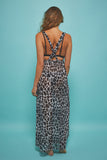 Cross Back Maxi Beach Dress White Giraffe