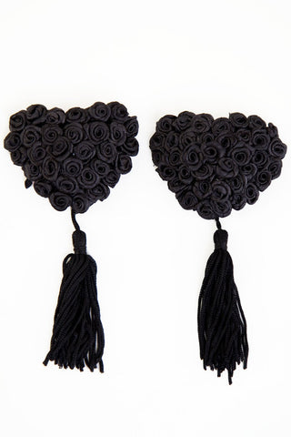 Black Rose Nipple Pasties - Wolf & Whistle