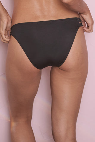 Black cut out side bikini brief