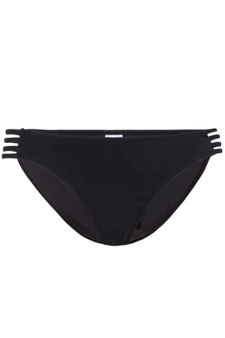 Black cut out side bikini brief - Wolf & Whistle
