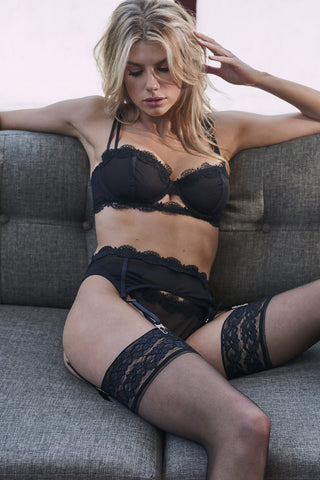 Avis Fishnet and Lace Bra B - F