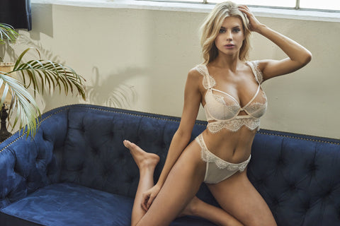 WW x Charlotte McKinney Gigi Blush Cut Out Plunge Bra
