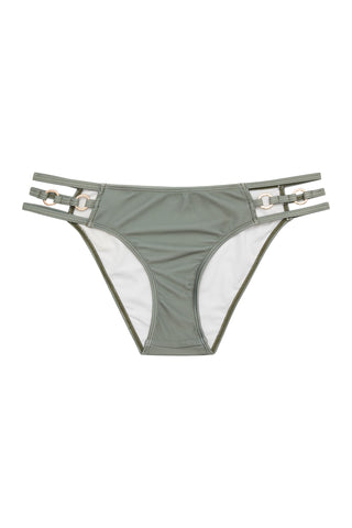 Eco Cut out bikini brief with gold rings