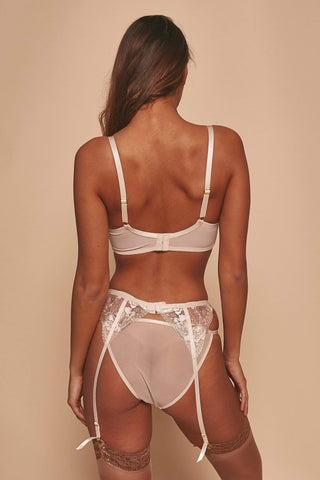 Grace Blush Embroidered Suspender Belt