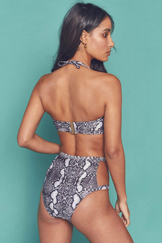 Eco Snakeskin chain high waist brief