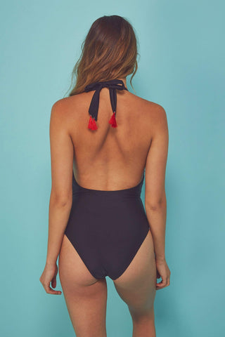 Eco Embroidered tassle swimsuit
