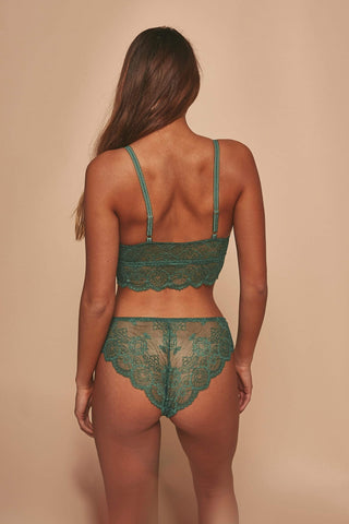 Ariana Lace Brief Green