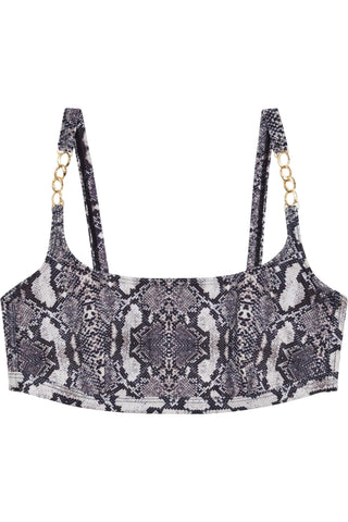Eco Snakeskin curve crop top