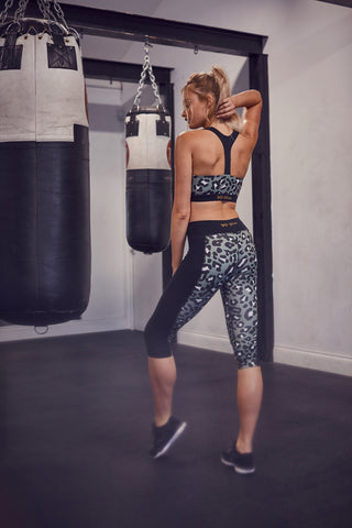 Printed Crop Leggings Leopard