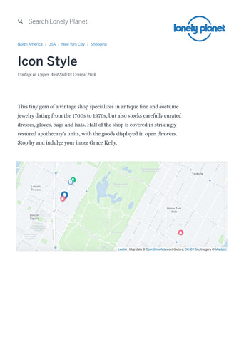 Lonely Planet article featuring Icon Style