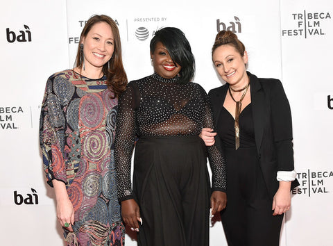 Tina Brown, Phelicia Wright and Dyana Winkler on Tribeca Film Festival red carpet