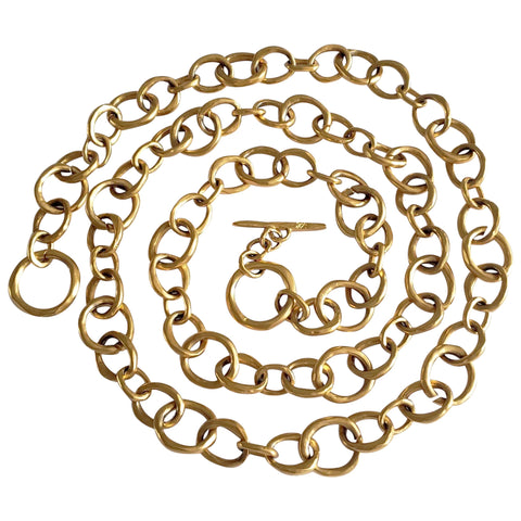 1980s Karl Lagerfeld Gold-Tone Chain Belt Necklace