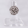 1970s Diamond and 18k White Gold Firework En Tremblant Ring