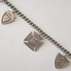 Early 20th Century Sterling Silver Charm Bracelet with English Fob Charms