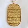 1970s Kenneth Lane Egyptian Revival Hieroglyphic Cartouche Sekhmet Necklace