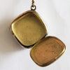 Circa 1910 Bliss Brothers Two-Tone Gold Plate Finger Purse with Monogrammed Pill Snuff Box