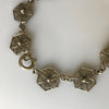 1920s Italian Silver Vermeil Filigree Necklace with Fringe