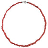 Circa 1915 Natural Red Coral Strand Necklace