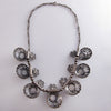 1930s Filigree Necklace with Ruby & Sapphire Glass