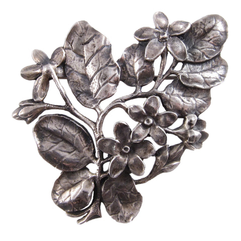 Cini Sterling Silver Floral Brooch