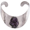 1960s J. Hull Amethyst Druzy Handwrought Collar