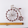 Late Victorian Penny Farthing Sterling Silver and Paste Brooch
