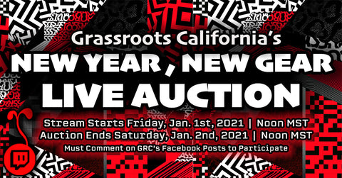 Grassroots California Livestream Live Auction Stream