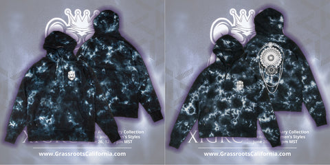 Grassroots California 11th Anniversary Collection Mens Womens Hoodie Pullover Apparel Tie Dye