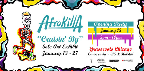 Afrokilla event at the Movement Gallery banner