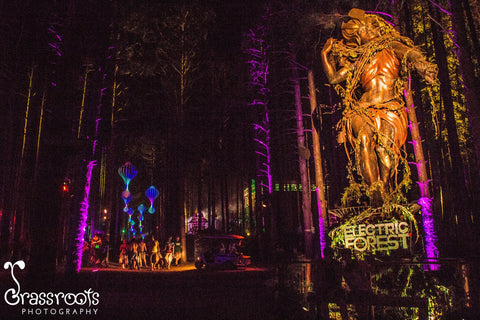Electric Forest - forest lady sculpture