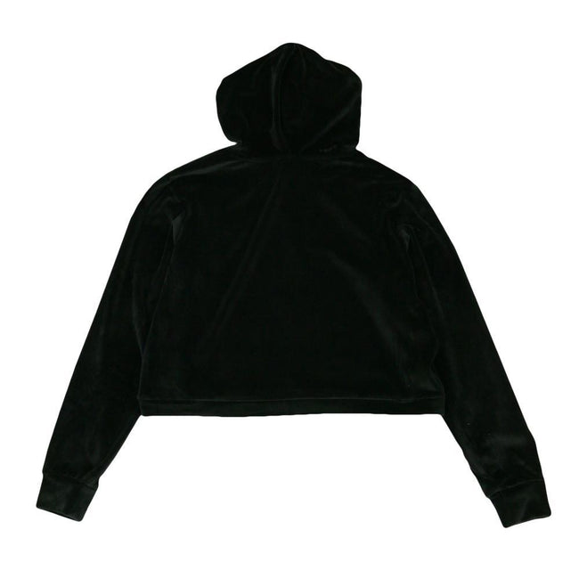 Royal Roots Velour Womens Black Crop Hoodie