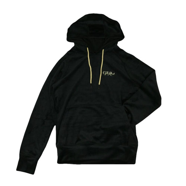 Royal Roots Velour Womens Black Pullover Hoodie